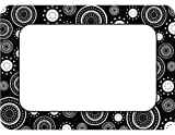Teacher Created Resources Black/White Crazy Circles Name Tags (5169)