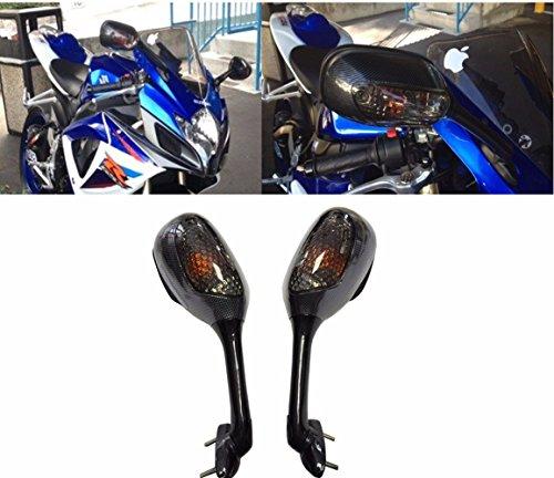 Carbon Suzuki GSXR 600 750 1000 K6 K7 Suzuki Turn Signal Integrated Mirrors 2005-2017 (Gsxr Turn Signals)