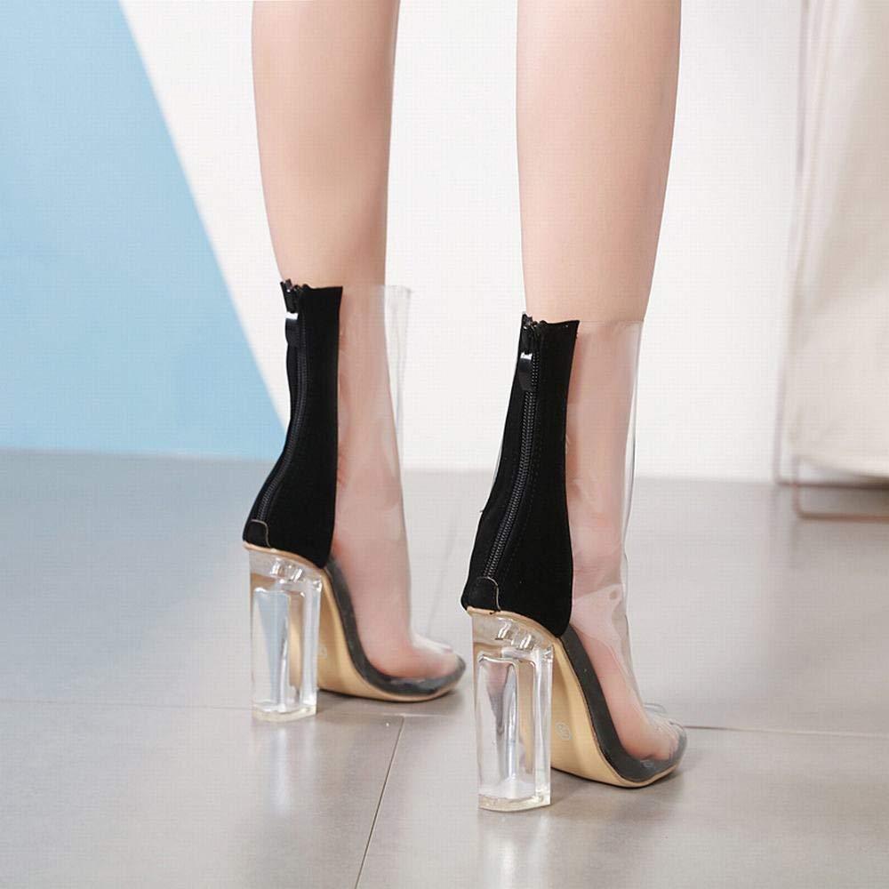 KERVINFENDRIYUN YY4 Stivali da Donna Stivali Trasparenti