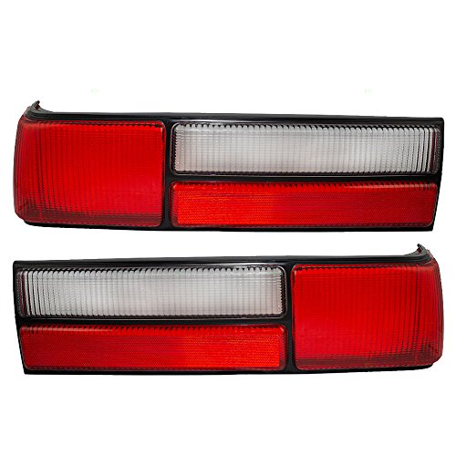 Driver and Passenger Taillights Taillamps Lens Replacement for Ford Mustang Fox Body LX style E7ZZ13405A E7ZZ13404A AutoAndArt