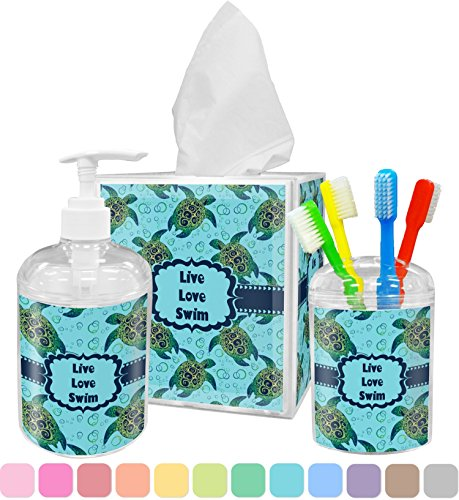 Sea Turtles Bathroom Accessories Set (Personalized)