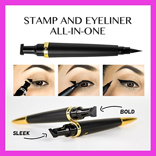 Cleopatra Cat Eye Stamp (Bold) Endorsed by Celebrities, Beauty Influencers, National Magazines & Oscar Winning Celebrity Makeup Artists. The ORIGINAL Double-sided Winged Eyeliner Stamp.