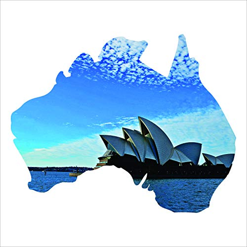 Precision Metal Art Australia Silhouette Metal Laser Cut Wall Art with Vivid Image of The Iconic Sydney Opera House