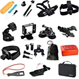 Action Camera Accessories Kit for Gopro Hero 1/2/3/3+/4 Series,SJ4000,SJ5000,SJ6000,SJ7000,SJ8000,Xiaomi yi,SJCAM Helmet Camera And Other Waterproof Camera