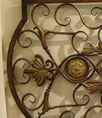 Ornate Large Metal Scroll Wall Grille | Open Plaque Art