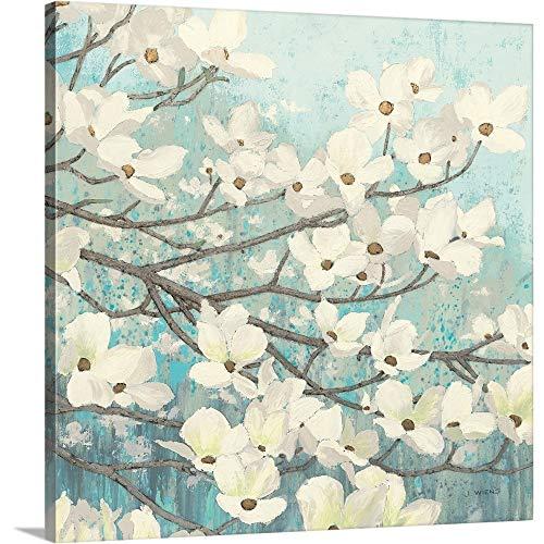 Dogwood Blossoms II Canvas Wall Art Print, 24 x24 x1.25