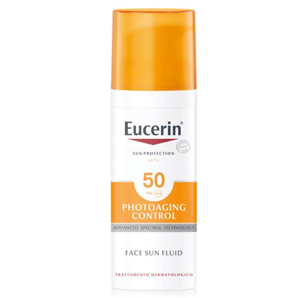 Eucerin Sun Photoaging Control SPF50 Fluido Solare Viso Anti-Età 50 ml Eucerin Sole