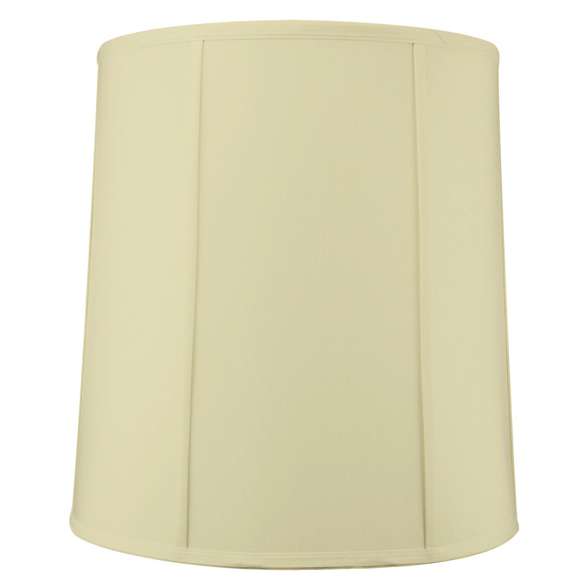 "14""x16""x17"" Tall Drum Lampshade Egg Shell Shantung, Cylinder Replacement Large Lamp Shade by Home Concept for Table Lamps"