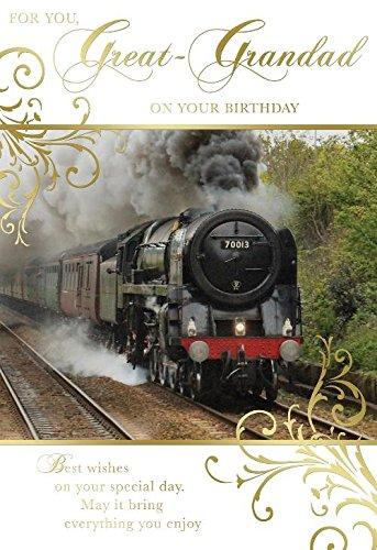 Para tu gran abuelo en tu cumpleaños locomotora de tren de ...