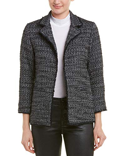 cupcakes and cashmere Women's Gregory Tweed Blazer, Black, Large