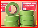 Lot Of 32 Rolls 1.5'' X 60 Yrds Green Painters Masking Tape Fine Edge