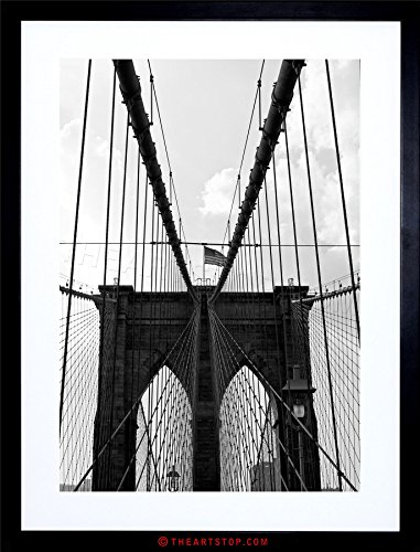 The Art Stop Photo Brooklyn Bridge Gates NYC USA New York Framed Print F12X2871