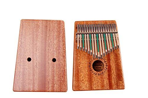 Gecko Kalimba 17 Key with Mahogany,Portable Thumb Piano Mbira/Marimba Sanza of Wooden Attached Ore Metal Tines - Image 1