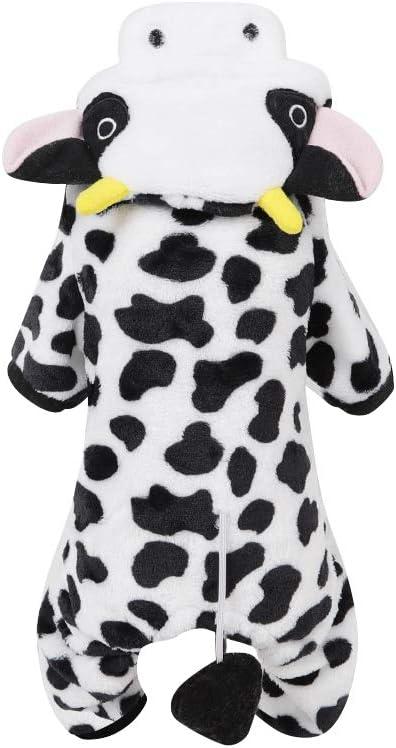 POPETPOP Disfraz de Mascota Perro Traje de Halloween Traje de Vaca lechera Perro Mono de Perro Suministros de Cachorro de Mascota