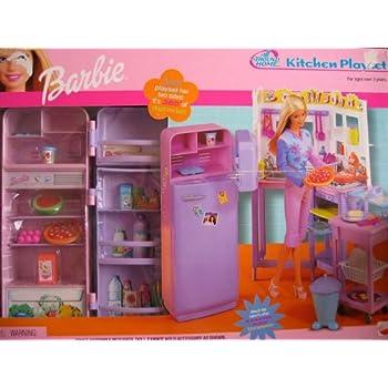 Amazon Com Barbie All Around Home Kitchen Playset W