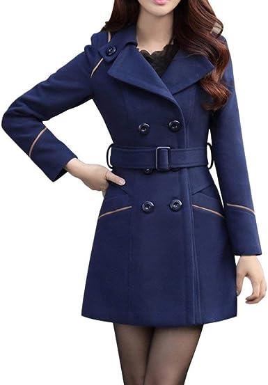 Manteau Femme Longues Mode Classique Double Boutonnage Coat