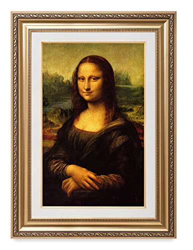 DECORARTS - Mona Lisa by Leonardo Davinci. The World Classic Art Reproductions. Giclee Print& Museum Quality Framed Art for Wall Decor. Framed Size: 26x36