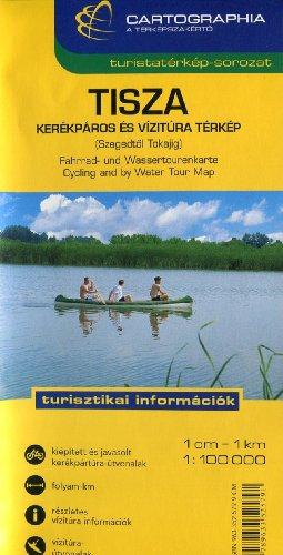 Tisza River (Hungary) 1:100,000 Boating Map CARTOGRAPHIA