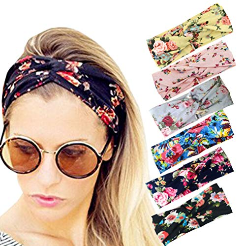 DRESHOW 6 Pack Women's Headbands Headwraps Hair Bands Bows Accessories