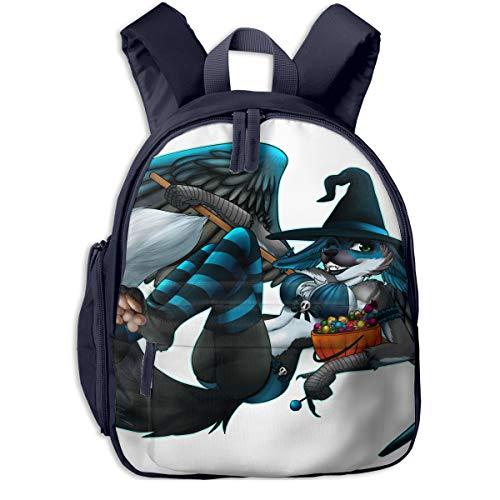 Halloween Youth Girl Fox Sexy Costume Children School Bag Book Backpack Outdoor Travel Pocket Double Zipper