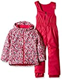 Columbia Girls' Little Kids Frosty Slope Set, Cactus Pink Floral Print, X-Small