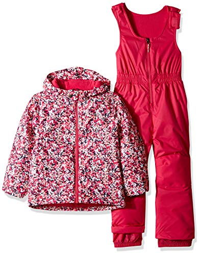 Columbia Kids & Baby Toddler Frosty Slope Set, Cactus Pink Floral Print, 2T