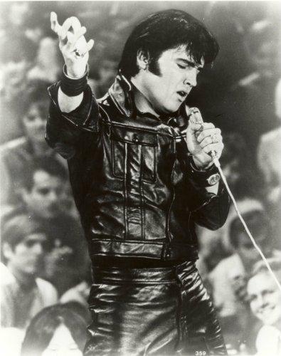 Elvis Presley Photo Leather Suit Concert Rock Roll Star Photos 8x10
