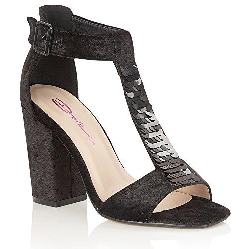 DolcisGigi - Zapatos con tacón mujer negro