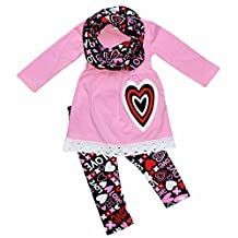 Unique Baby Girls Valentine's Day Outfit Layered Heart Crochet
