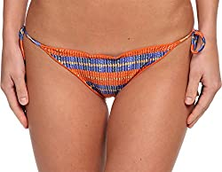Vix Women's Jaspe Ripple Tie Full Bottom Jaspe Swimsuit Bottoms LG