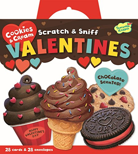 Peaceable Kingdom Cookies and Cream Scratch and Sniff Super Valentines Card Pack