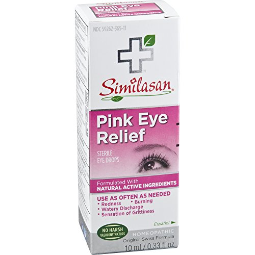 - Similasan Pink Eye Relief Eye Drops 0.33 oz