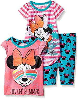 Baby Girls' 3 Piece Happy Days Minnie T-Shirt and Lovin Summer Legging