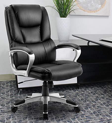 Rhomtree High Back Executive Home Office Chair Swivel Ergonomic Chair Adjustable Computer Desk Chair