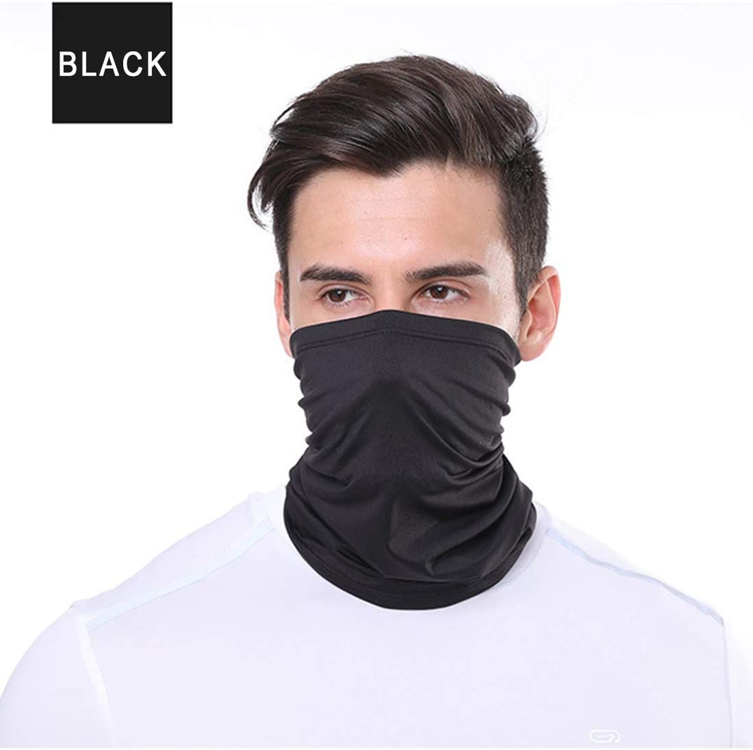 Bandanas Magic Face Cover Scarf Dust Wind for Fishing Hiking Cycling Motorcycling nobrand 5 Pack Neck Gaiter Face Mask UV Sun Protection 50