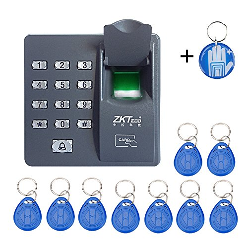 OBO HANDS Biometric Fingerprint RFID Keypad for Access Control System +10 Keycards+ RFID Crystal Tag by OBO HANDS
