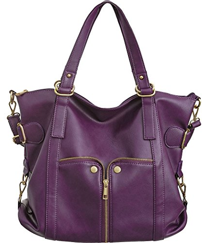 Waverly body Large Plum Cross Handbag Purple Tote Convertible ZrpxZqwnH