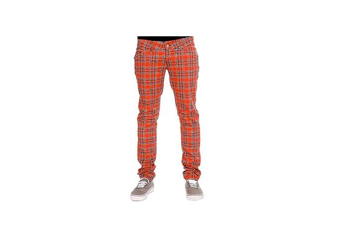 Run & Fly Tartan - Pantalón elástico para Hombre, Color Rojo
