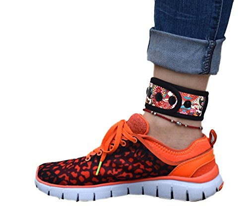 (B-Great Ankle Band for Men and Women Compatible with Fitbit Flex 2/One/Zip/Charge 2/Alta HR or Garmin Vivofit/2/3/4/JR Fitness Tracker (Paisley Pattern, Medium))