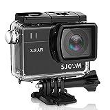 Cámara de vídeo de acción deportiva SJCAM SJ8 de 16 GB con tarjeta TF + visualización táctil HD 1296P de 2,3 pulgadas, gran angular de 160 °, grabadora de audio con videocámara deportiva + 1 batería extra + 1 cargador dual (negro)