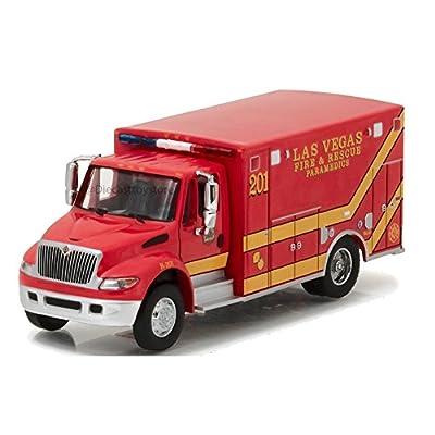2013 International Durastar Las Vegas Fire & Rescue Paramedics Ambulance HD Trucks Series 9 1/64 by Greenlight 33090 C: Toys & Games