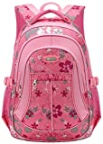 MAYZERO Waterproof School Bag Pink Backpack for Girls Bookbag Durable Deal (Small Image)