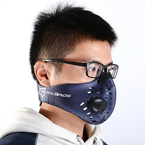 BIKE RESPIRATOR Cycling Mouth-Muffle Dust Mask Dustproof Bicycle Sports Protect Road MTB Bike bicicleta Mask Face Cover For Show-gangnumsky Blue