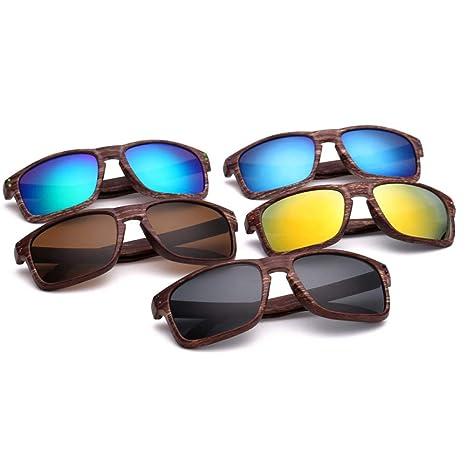 Yangjing-hl Gafas de Sol imitación Madera Grano Gafas de Sol ...