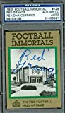 RED GRANGE AUTOGRAPH 1985 IMMORTALS PSA/DNA SIGNED