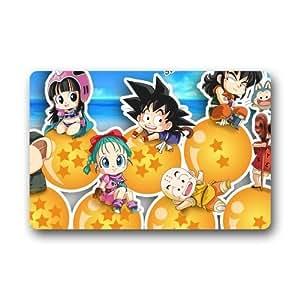 Lavable a máquina interior/exterior/ducha/baño Felpudo personalizado Anime japonés Dragon Ball Chibi Felpudo (23,6x 15,7)