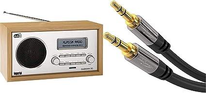 Imperial 22 130 00 Dabman 30 Digitalradio Dab Dab Ukw Aux In Inkl Netzteil Braun Kabeldirekt Aux Kabel Audio Klinkenkabel 3 5mm 0 5m Schwarz Heimkino Tv Video