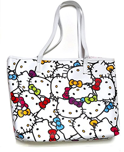 (Hello Kitty Faux Leather Shoulder Tote Bag : Muti Color)