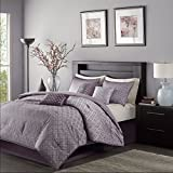 Madison Park MP10-920 Biloxi 7Piece Comforter Set King , Purple, King,Purple,King