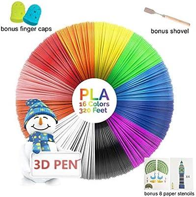 MagicBiu - Filamento para impresora 3D (16 colores, 320 pies), 8 ...
